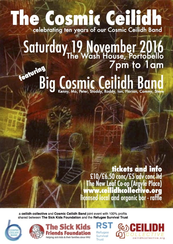 Cosmic Ceilidh in support of the Refugee Survival Trust, 19 November 2016