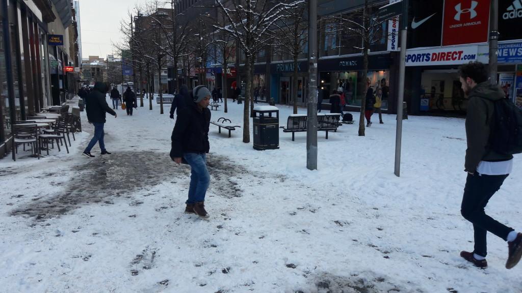 Sauchiehall St Glasgow in the snow