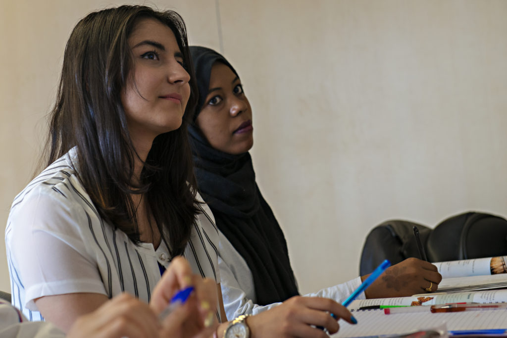 Women refugees in Glasgow benefiting from our access to education and employment grants in Scotland